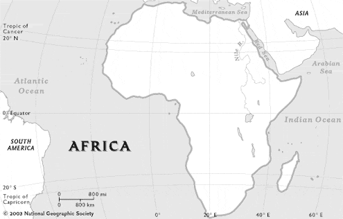 Outline Africa Geographical Map.Lesson 1 Africa In Context