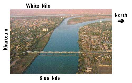 blue and white nile meet