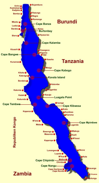 Lake Tanganyika On A Map Of Africa.Lesson 10 East African Rifting