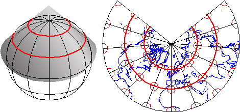 Map Projection Conic_conformal